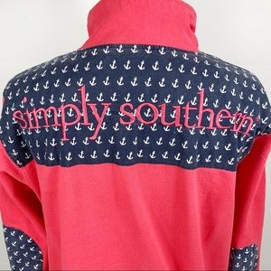Simply Southern Pullover Half Zip Anchor Pattern